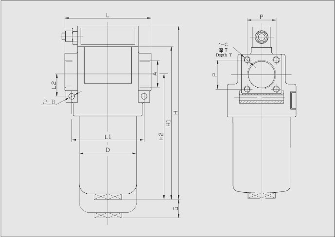 1 YPM系列压力管路过滤器性能与用途 安装于液压系统压力管路中,滤除工作介质中的固体颗粒及胶状物质,有效控制工作介质的污染度。 可根据需要装配压差发讯器及旁通阀 滤芯过滤材料分别采用符合纤维、木棉定型滤纸、不锈钢烧结毡,不锈钢编织网。 上、下壳体均采用铝锻件,体积小,重量轻,结构精巧,外形美观。 2 YPM系列压力管路过滤器技术参数 工作介质:矿物油、乳化液、水-乙二醇、磷酸酯液压液(木棉定性滤纸仅适用于矿物油) 工作压力(max):21MPa 工作温度:-25摄氏度-110摄氏度 发讯器发讯压力差:0